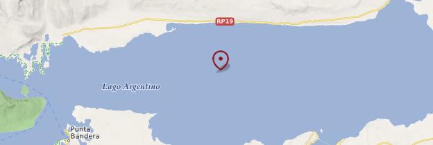 Carte Lago Argentino - Patagonie