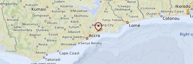 Carte Région du Grand Accra - Ghana