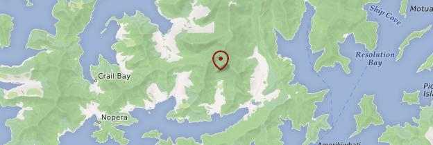 Carte Marlborough Sounds - Nouvelle-Zélande