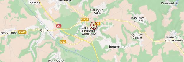 Carte Coucy-le-Château-Auffrique - Picardie