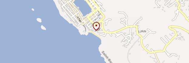 Carte Gustavia - Saint-Barthélemy