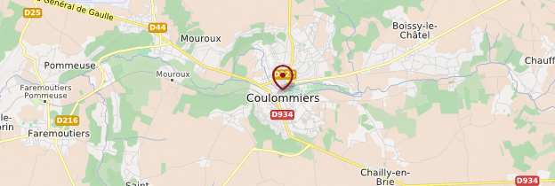 Carte Coulommiers - Île-de-France