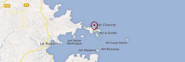 Carte Îlet Chancel - Martinique