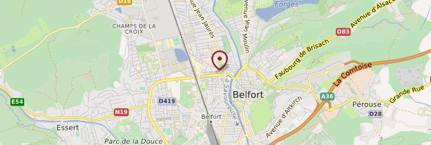 Carte Belfort - Franche-Comté