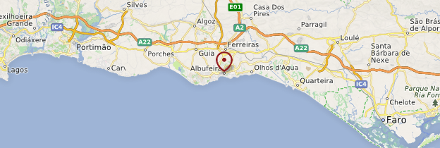 Carte Albufeira - Portugal
