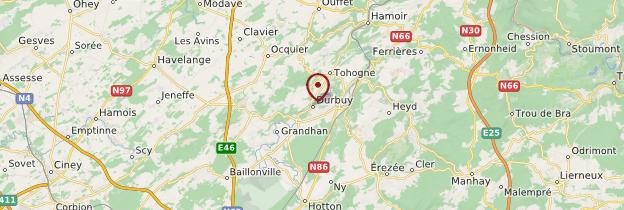 Carte Durbuy - Belgique