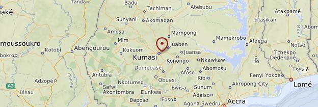 Carte Kumasi - Ghana