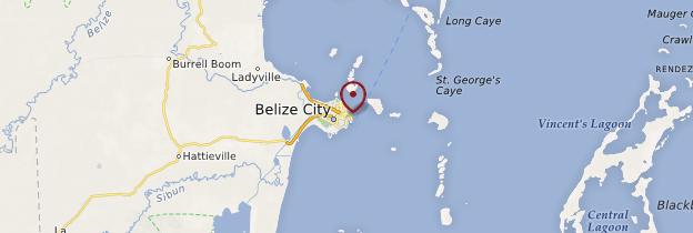 Carte Belize City  - Belize