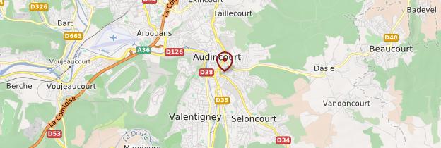 Carte Audincourt - Franche-Comté