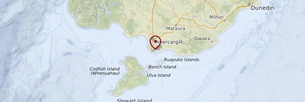 Carte Bluff - Nouvelle-Zélande
