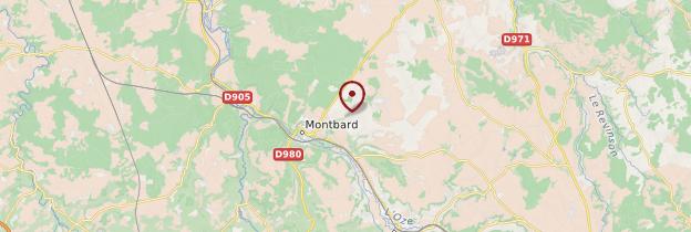 Carte Abbaye de Fontenay - Bourgogne