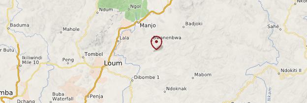 Carte Chutes d'Ekom - Cameroun