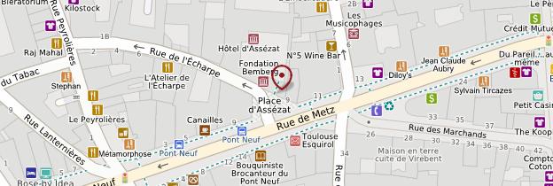 Carte Hôtel d'Assézat et fondation Bemberg - Toulouse