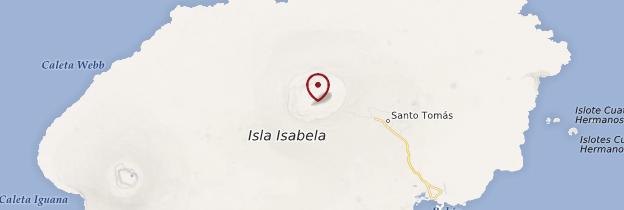 Carte Isla Isabela (Albemarle Island) - Îles Galápagos