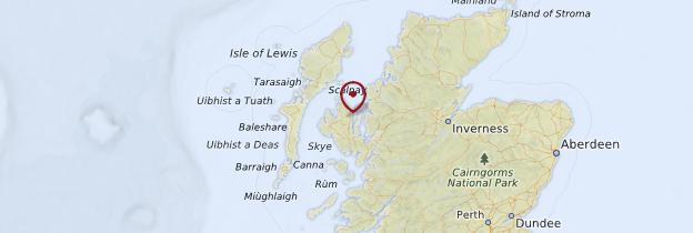 Carte Îles Hébrides - Écosse