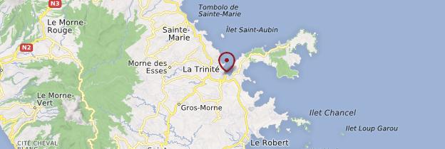 Carte La Trinité - Martinique