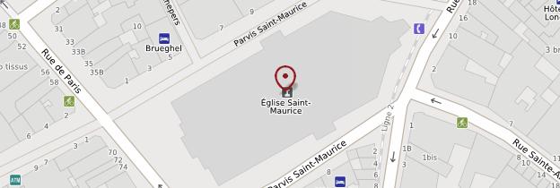Carte Église Saint-Maurice - Lille