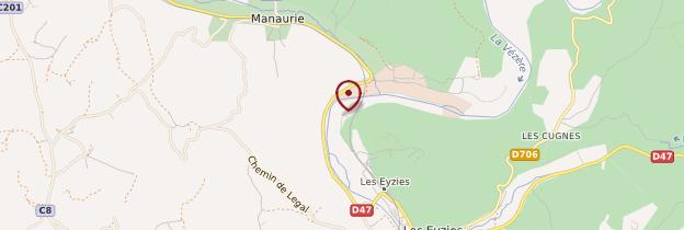 Carte Abri préhistorique de Laugerie-Basse - Périgord - Dordogne