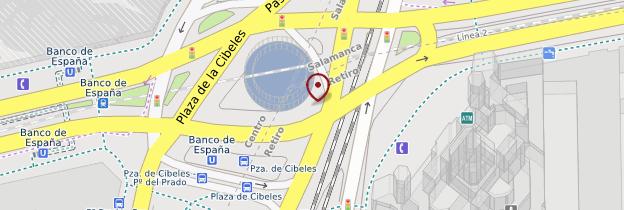 Carte Los paseos et quartier du Parque del Buen Retiro - Madrid