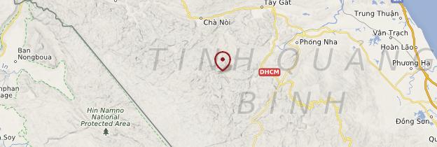 Carte Parc national de Phong Nha-Kẻ Bàng - Vietnam