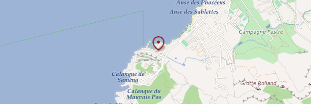 Carte La Madrague - Marseille