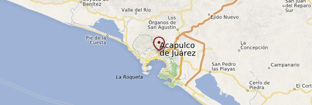 Carte Région d'Acapulco - Mexique