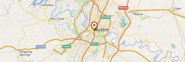 Carte Austin - États-Unis