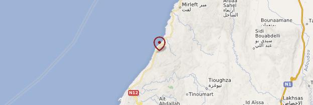 Carte Sur la route de Tiznit - Maroc