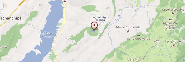 Carte Laguna de Guatavita - Colombie