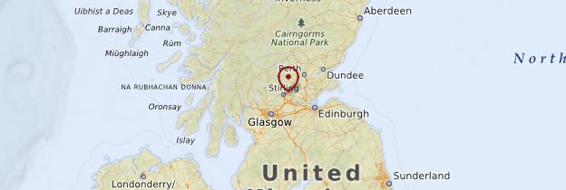 Carte Stirling & Trossachs - Écosse