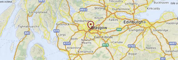 Carte Glasgow et la Clyde - Écosse