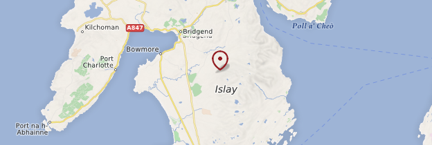 Carte Île d'Islay - Écosse