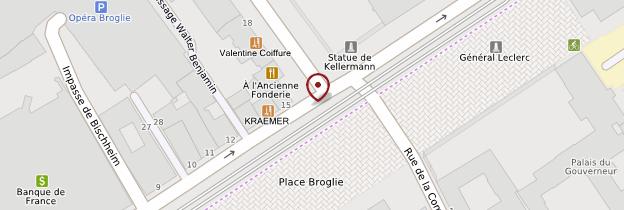 Carte Place Broglie - Strasbourg