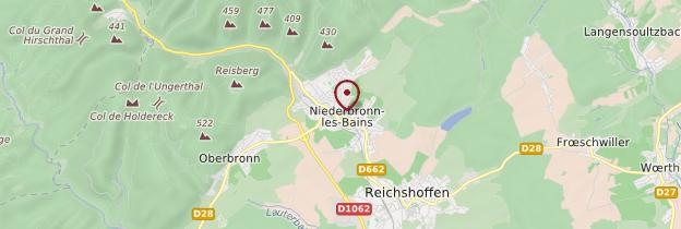Carte Niederbronn-les-Bains - Alsace