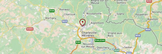 Carte Charleville-Mézières - Champagne-Ardenne