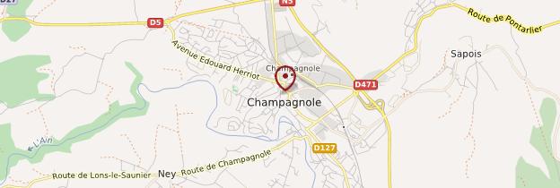 Carte Champagnole - Franche-Comté