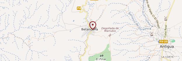 Carte Betancuria - Canaries