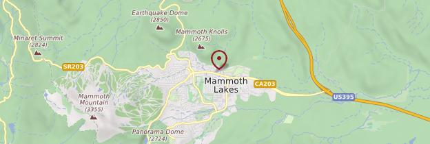Carte Mammoth Lakes - Parcs nationaux de l'Ouest américain