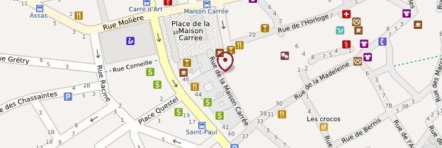 Carte Maison carrée - Languedoc-Roussillon