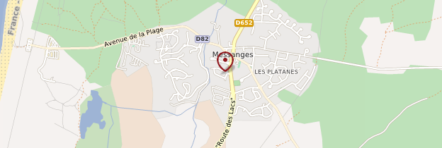 Carte Messanges - Aquitaine - Bordelais, Landes