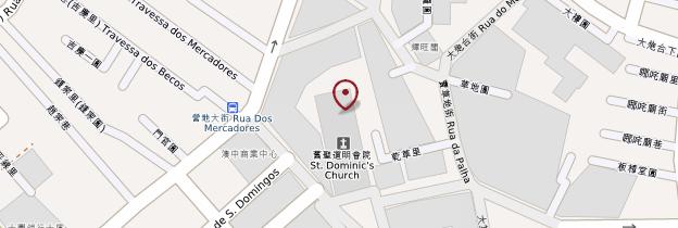 Carte Église São Domingos - Macao
