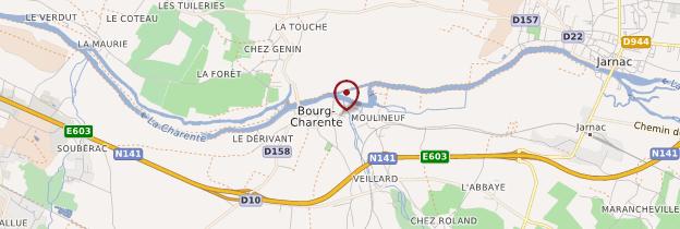 Carte Bourg-Charente - Poitou, Charentes