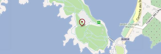 Carte Presqu'île du Gaou - Côte d'Azur
