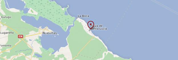 Carte Playa Santa Lucía - Cuba