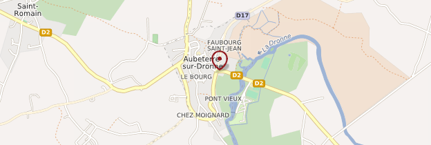 Carte Aubeterre-sur-Dronne - Poitou, Charentes