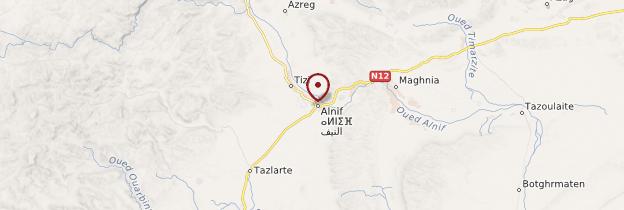 Carte Alnif - Maroc