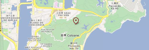 Carte Île de Coloane - Macao