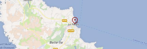 Carte Le Palais (Porzh-Lae) - Bretagne
