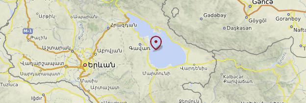 Carte Région du lac Sevan - Arménie