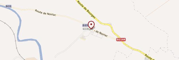 Carte Abbaye de Noirlac - Berry